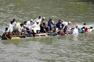 In Jharkhali, one boat carrying tourists overturned and many are dead and many are missing