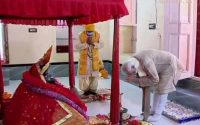 Pujo of the Prime Minister at Kali Mandir during her visit to Bangladesh